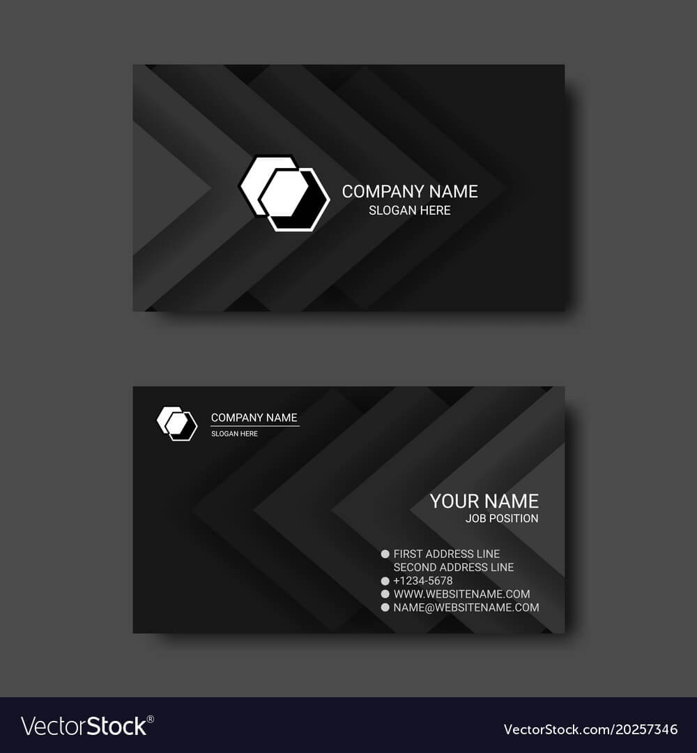 Black And White Abstract Business Card Templates With Regard To Black And White Business Cards Templates Free