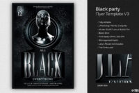 Black Party Flyer – Colona.rsd7 throughout All White Party Flyer Template Free
