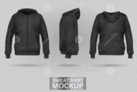 Black Sweatshirt Hoodie Template Stock Vector – Illustration inside Blank Black Hoodie Template