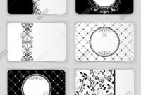 Black White Vintage Image & Photo (Free Trial) | Bigstock with Black And White Business Cards Templates Free
