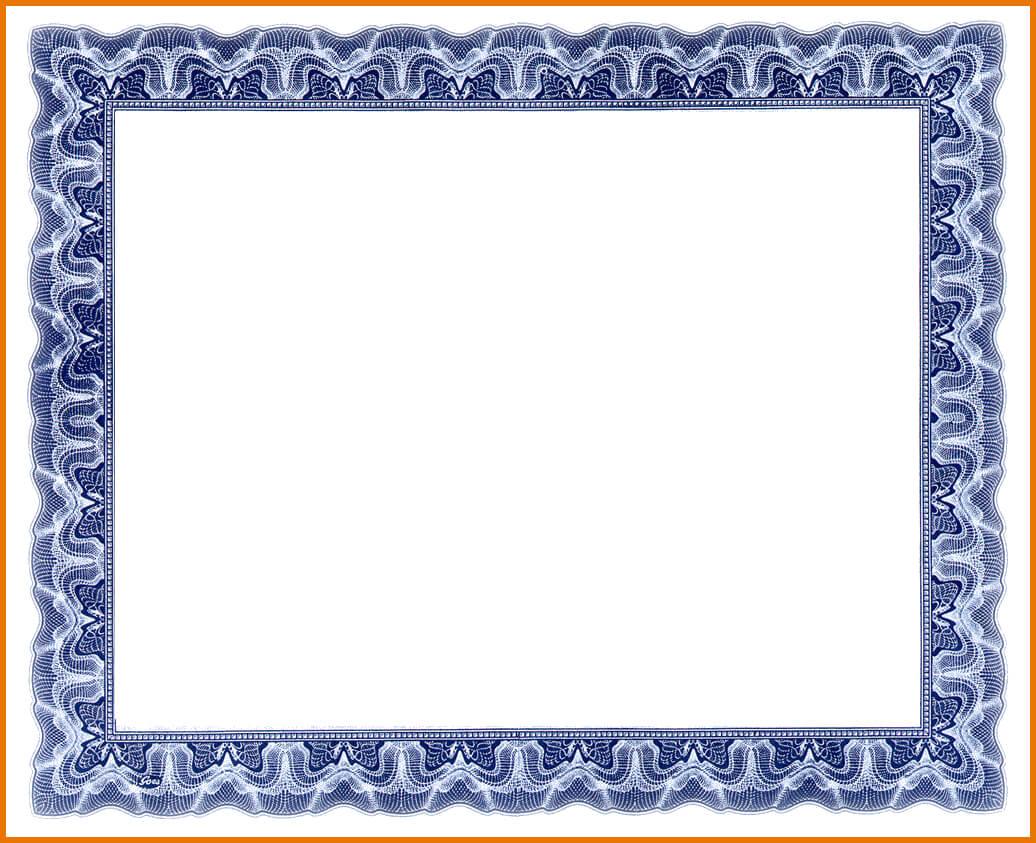 Blank Award Certificate Template.border | Scope Of Work Pertaining To Award Certificate Border Template