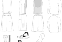 Blank Basketball Jersey Template Free Download Clip Art inside Blank Basketball Uniform Template