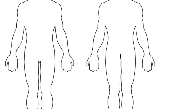 Blank Body Clipart with regard to Blank Body Map Template