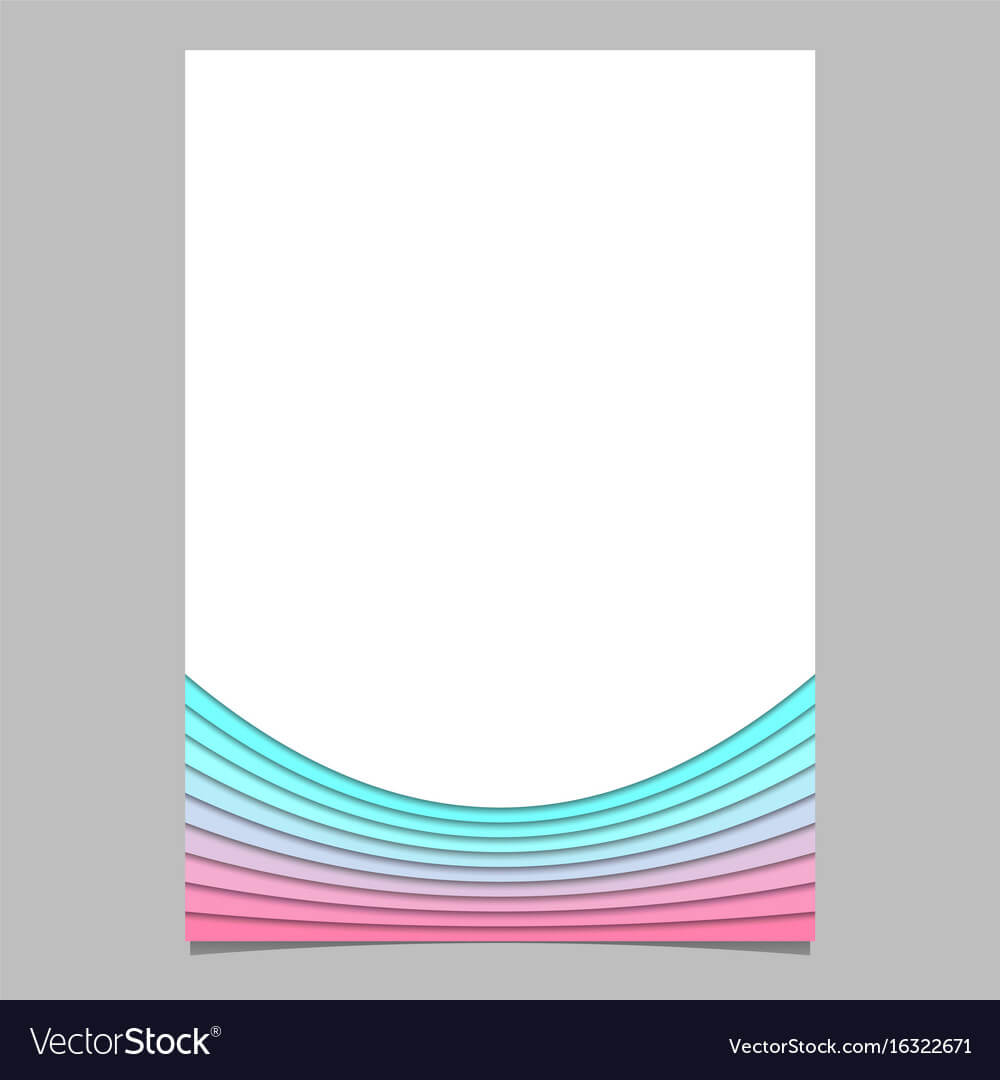 Blank Brochure Template From Curves - Flyer With Regard To Blank Flyer Templates Free