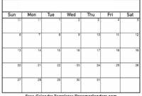Blank Calendar Templates – Colona.rsd7 inside Blank Calander Template