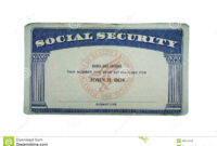 Blank Card Stock Photo. Image Of Paper, Social, Security inside Blank Social Security Card Template
