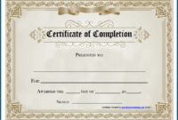 Blank Certificate Of Completion Template – Colona.rsd7 pertaining to Certificate Of Completion Free Template Word