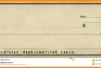 Blank Check Clipart with regard to Blank Cheque Template Download Free