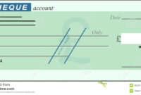 Blank Cheque Stock Vector. Illustration Of Chequebook throughout Blank Cheque Template Download Free