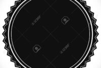 Blank Empty Stamp, Seal Or Badge Template pertaining to Blank Seal Template