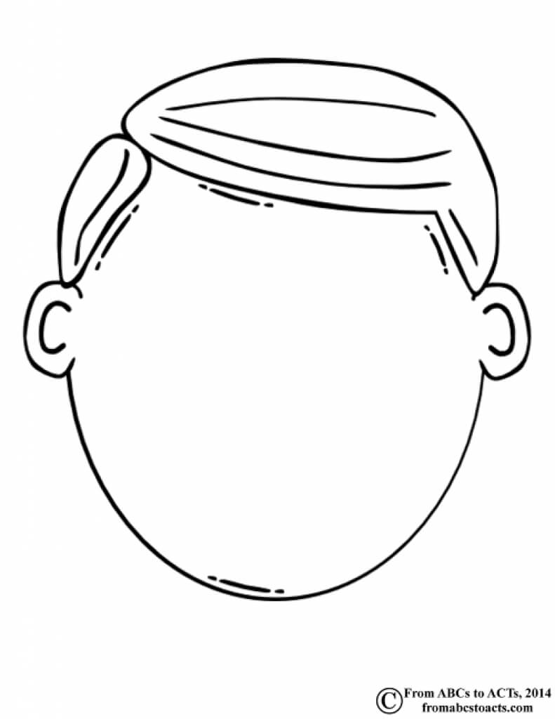 Blank Face Clipart Black And White In Blank Face Template Preschool