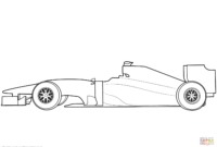 Blank Formula 1 Race Car Coloring Page | Free Printable pertaining to Blank Race Car Templates