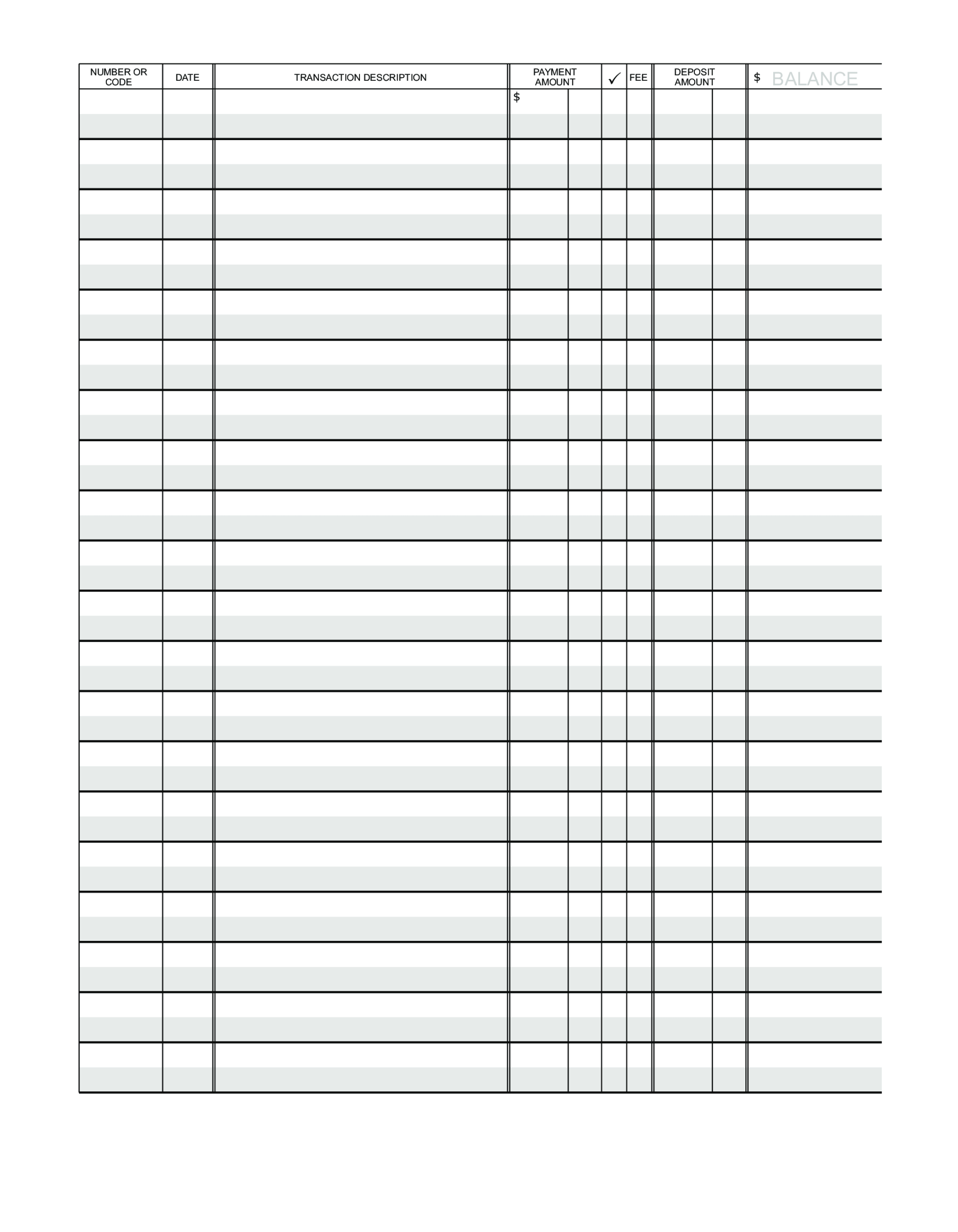 Blank Ledger Paper | Templates At Allbusinesstemplates In Blank Ledger Template