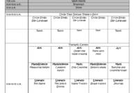 Blank Lesson Plan Template Teacher Free For Pre K Printable throughout Blank Preschool Lesson Plan Template