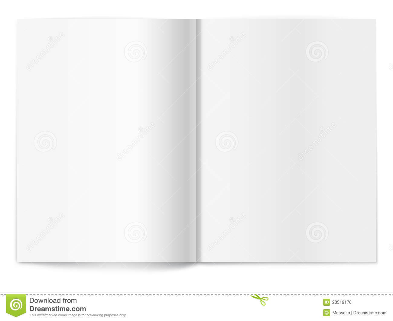 Blank Magazine Spread. Template For Design Stock Vector Within Blank Magazine Spread Template
