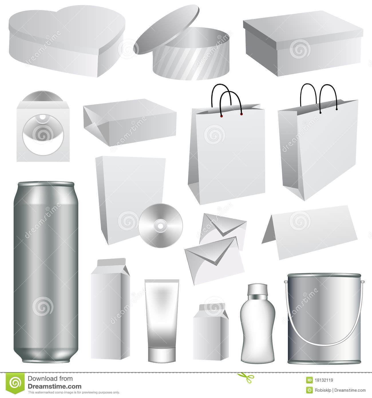 Blank Packaging Templates Stock Vector. Illustration Of With Regard To Blank Packaging Templates