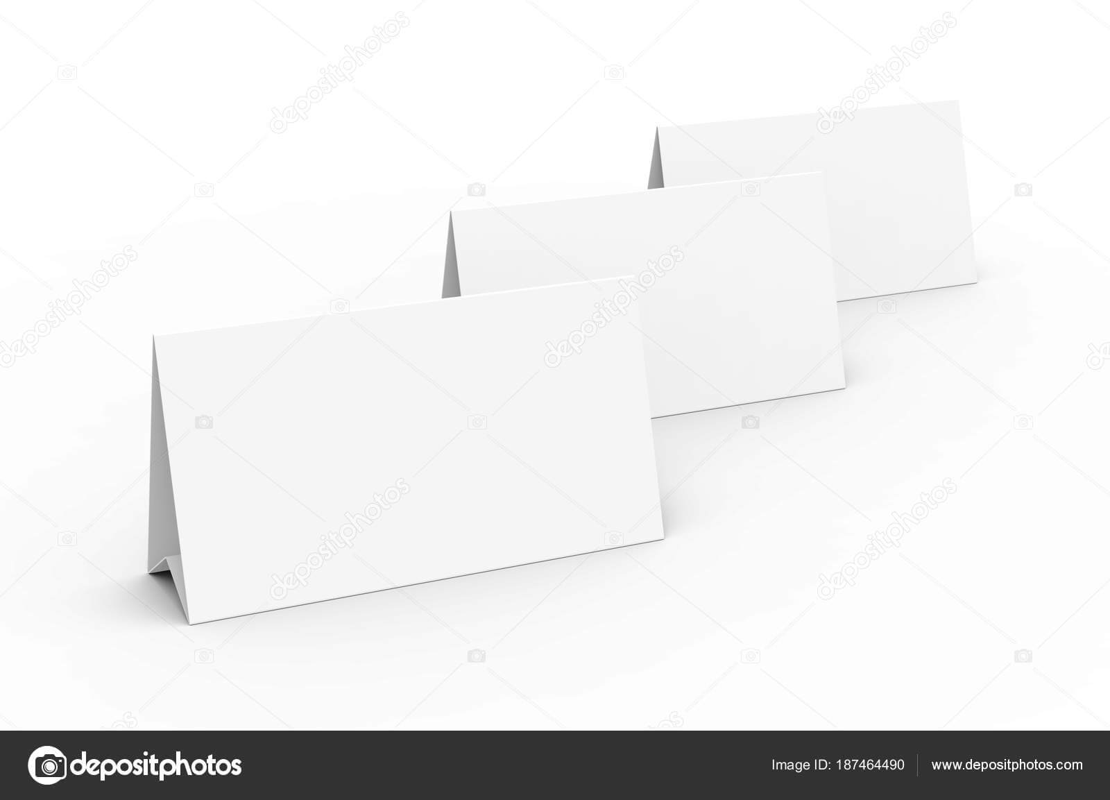 Blank Paper Tent Template White Tent Cards Set Empty Space Inside Blank Tent Card Template