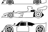 Blank Race Car Coloring Pages within Blank Race Car Templates