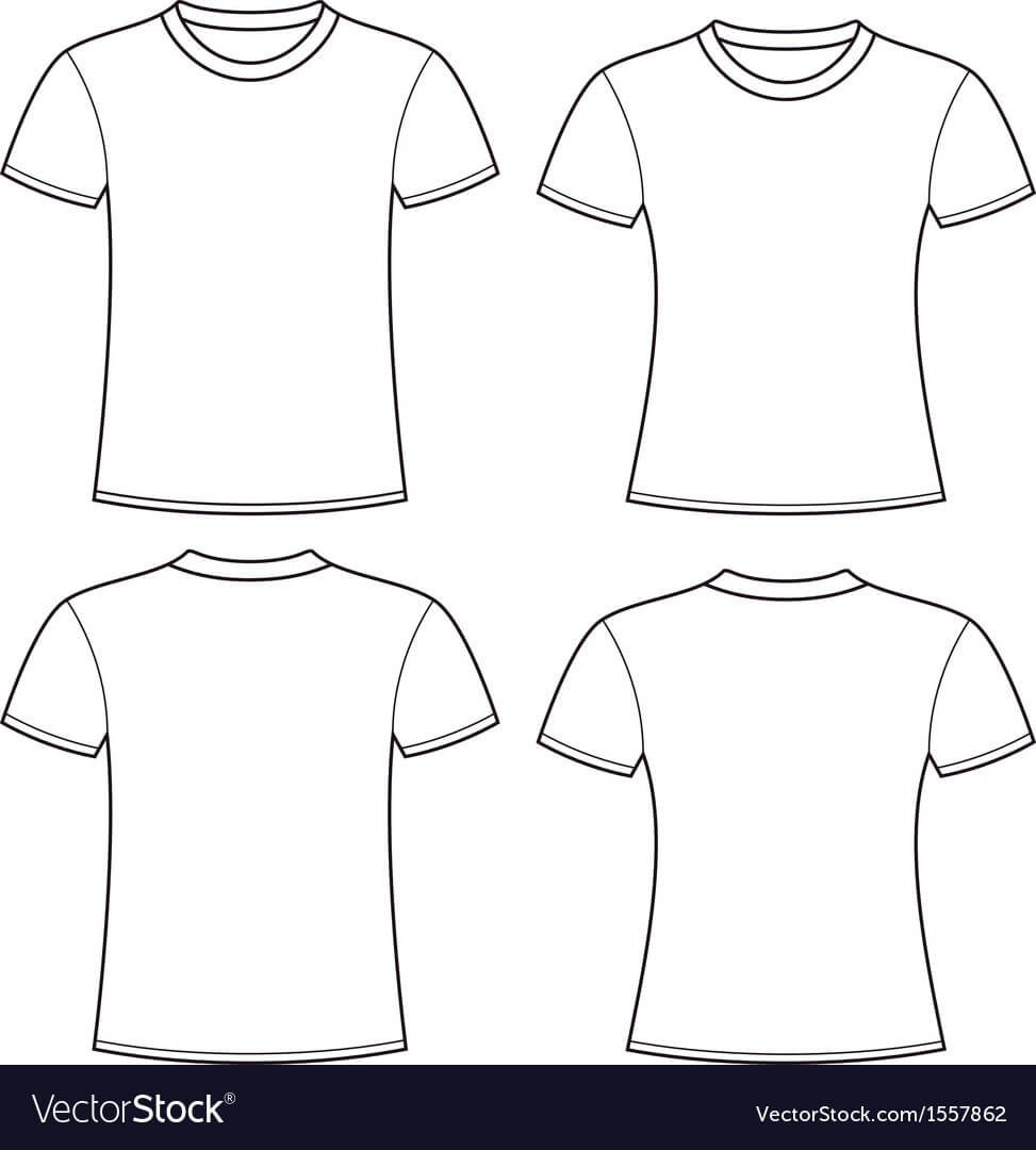 Blank T Shirts Template In Blank Tee Shirt Template