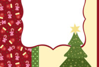 Blank Template For Christmas Greetings Card inside Blank Christmas Card Templates Free