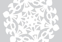 Blank Template To Draw A Pattern For Paper Snowflake | Free throughout Blank Snowflake Template