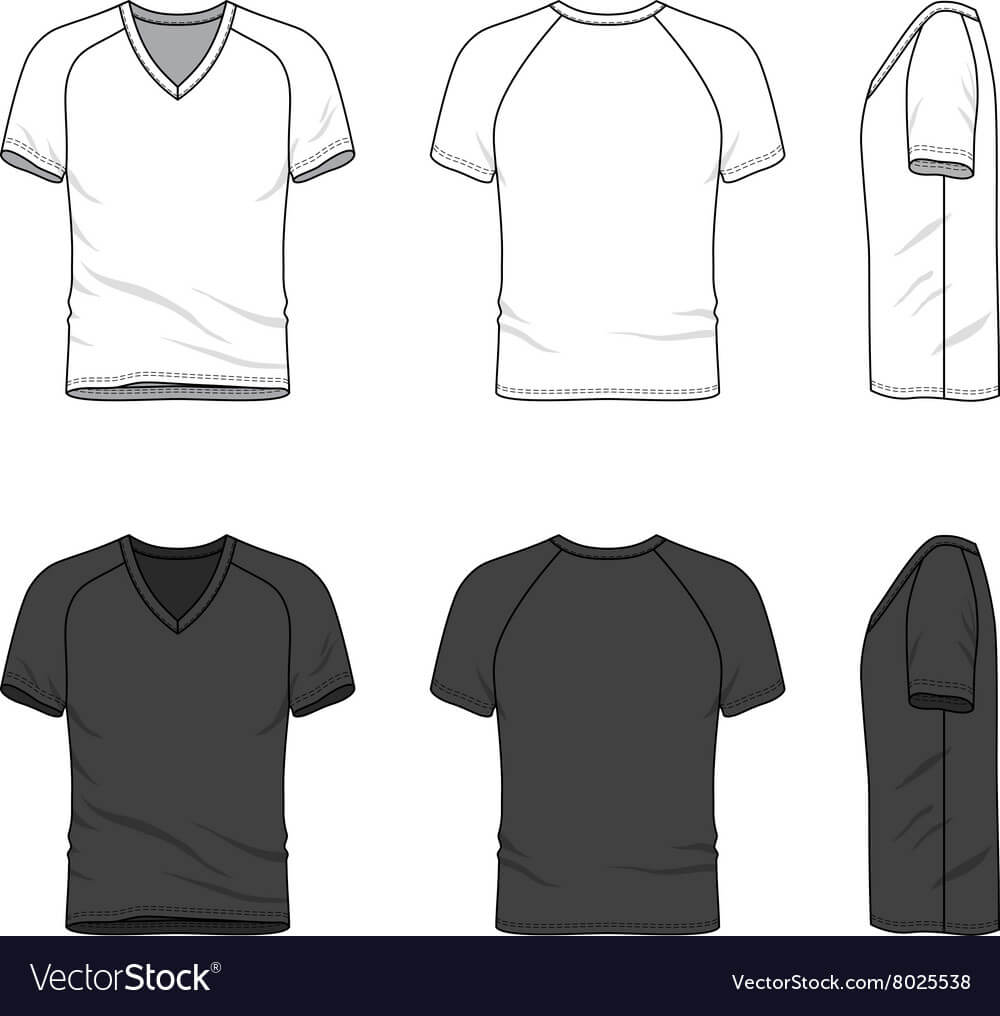 Blank V Neck T Shirt With Regard To Blank V Neck T Shirt Template
