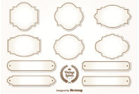 Blank Vintage Labels – Download Free Vectors, Clipart with regard to Antique Labels Template