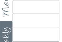 Blank Weekly Menu Template Pdf Dinner Printable Planner within Blank Html Templates Free Download