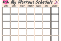 Blank Workout Schedule For Women   Templates At regarding Blank Workout Schedule Template
