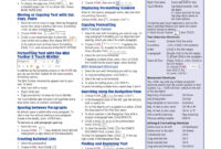 Blog Archives – Goodsiterex regarding Cheat Sheet Template Word
