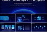 Blue Business Intelligence Technology Future Work Report Ppt regarding Business Intelligence Powerpoint Template