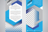 Blue Roll Up Banner Stand Design Template – Download Free pertaining to Banner Stand Design Templates