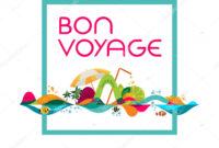 Bon Voyage Banner | Bon Voyage – Banner, Vector Template with regard to Bon Voyage Card Template