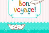 Bon Voyage Card Illustration 58702570 – Megapixl in Bon Voyage Card Template
