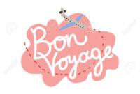 Bon Voyage, Have Nice Trip Banner Template Vector Illustration within Bon Voyage Card Template