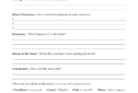 Book Report Examples 5Th Grade 4Th 3Rd Writing 9Th 1St Pdf with 5Th Grade Book Report Template