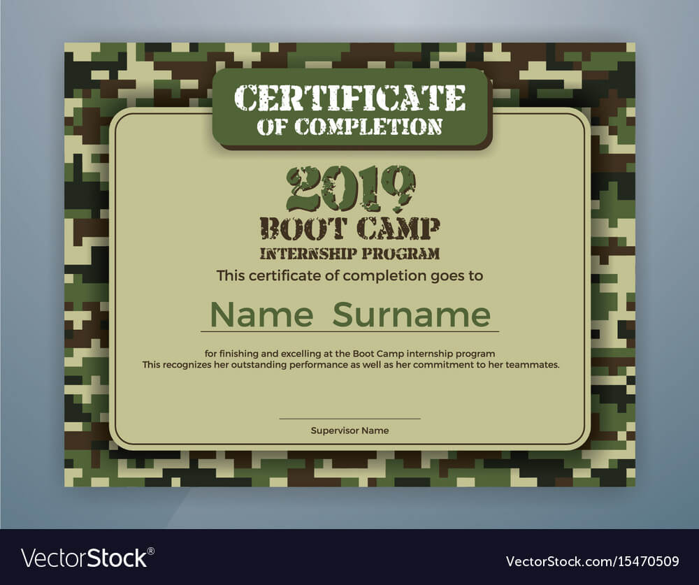 Boot Camp Internship Program Certificate Template In Boot Camp Certificate Template