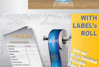 Bottle Label Graphics, Designs & Templates From Graphicriver pertaining to 3X8 Label Template