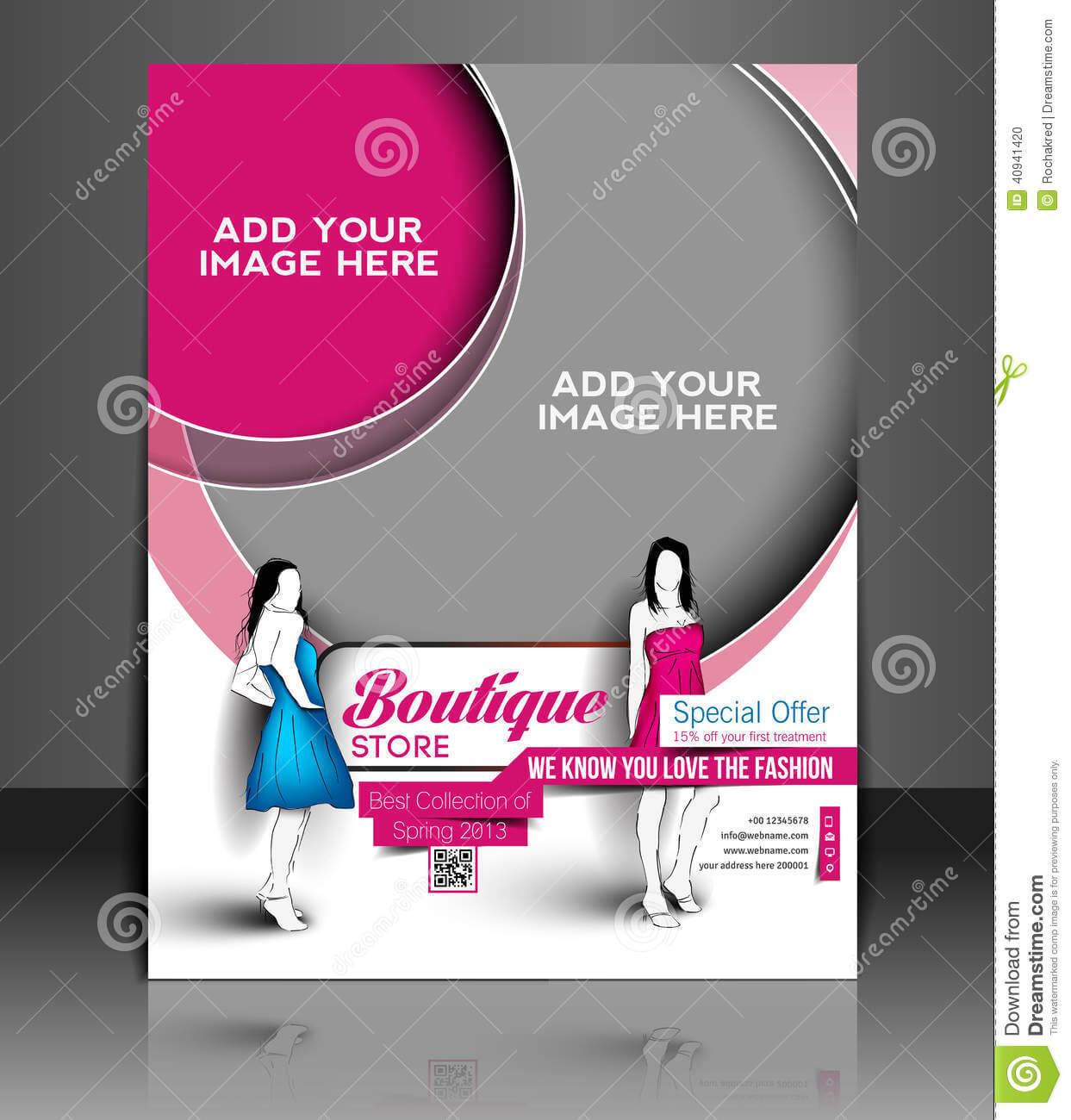 Boutique Store Flyer Stock Vector. Illustration Of Banner With Regard To Boutique Flyer Template Free