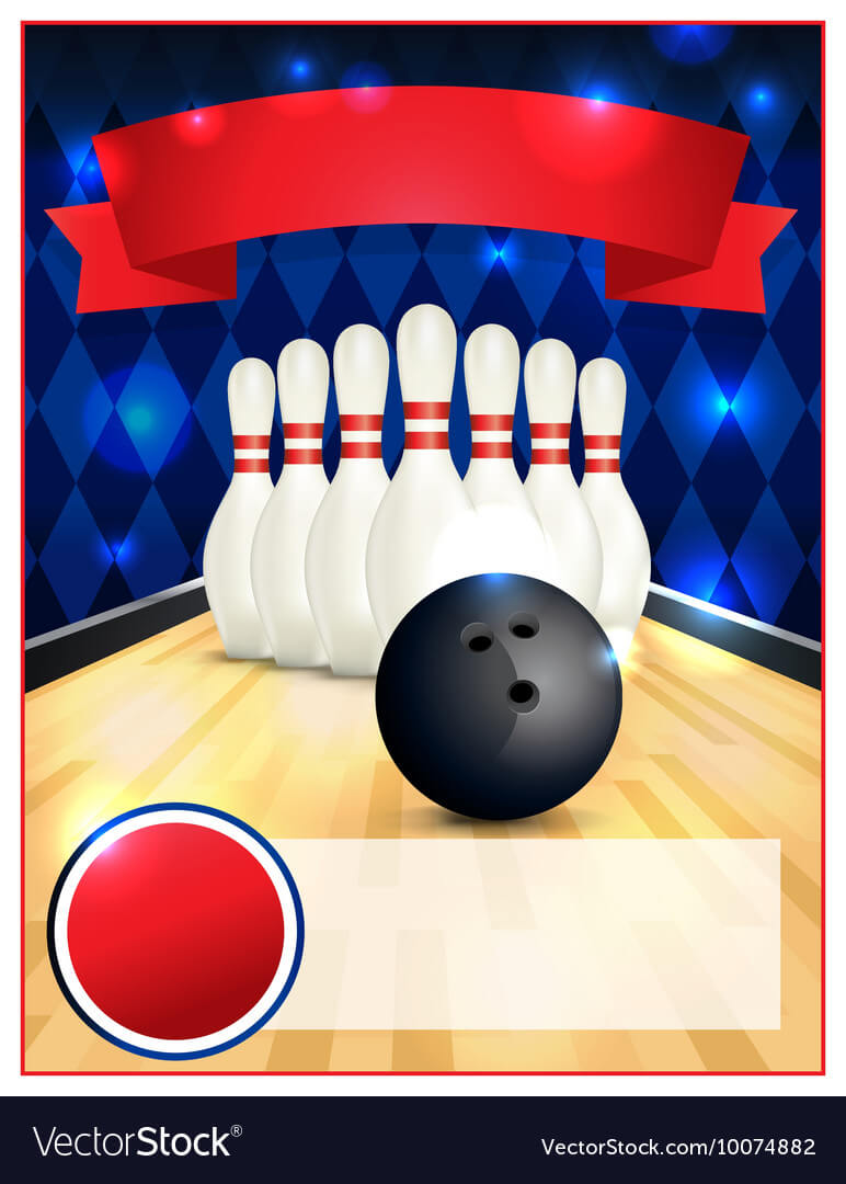 Bowling Alley Blank Template Flyer With Regard To Bowling Flyers Templates Free