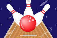 Bowling Championship Invitation Flyer Template Sample Stock for Bowling Flyers Templates Free