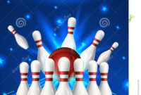 Bowling Flyer Template. A6 Format Size. Vector Clip Art with Bowling Flyers Templates Free