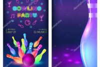 Bowling Party Flyer Template Vector Clip Art Illustration with Bowling Party Flyer Template