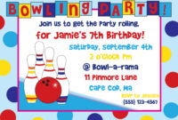 Bowling Party Invitation Template Free Download Clip Art inside Bowling Party Flyer Template