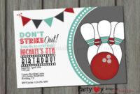 Bowling Party Invitation Template Free | Stockfile.online intended for Bowling Party Flyer Template
