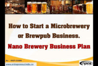 Brewery Business Plan Plans Template Free Startup Pdf In for Brewery Business Plan Template Free