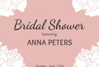 Bridal Shower Floral Invitation Template with Bridal Shower Invite Template