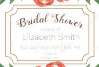 Bridal Shower Invitation Template. pertaining to Bridal Shower Invite Template
