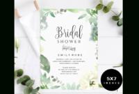 Bridal Shower Invitation Template pertaining to Bridal Shower Invite Template