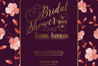 Bridal Shower Invitation Template throughout Bridal Shower Invite Template